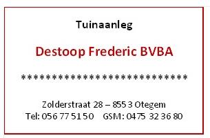 Tuinaanleg Destoop Frederic